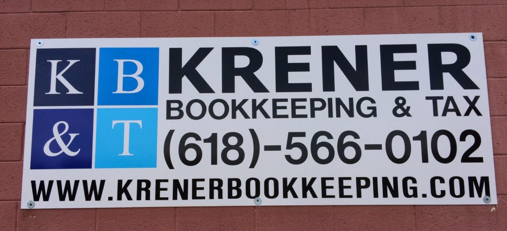 Krener Bookkeeping & Tax Sign